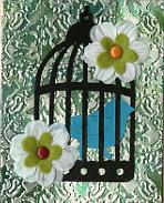 Carol alchohol inks birdcage