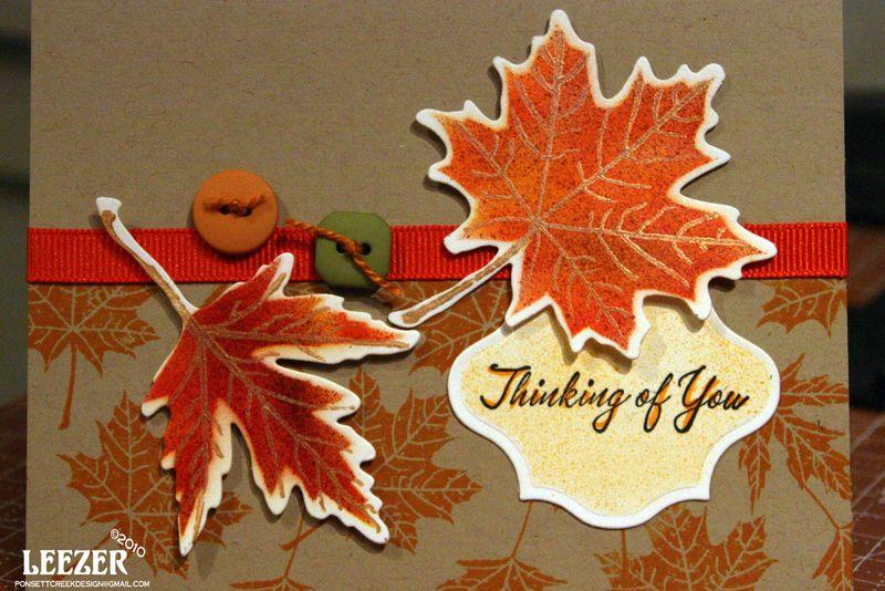 Lesa leaf card
