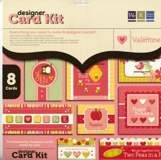 Be my valentine card kit