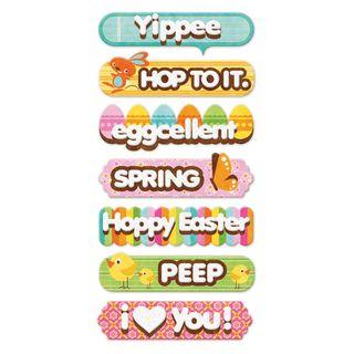 Peep layered chipboard words