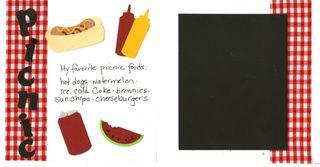 Summer album picnic foods