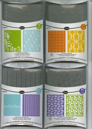 New sizzix embossing folders